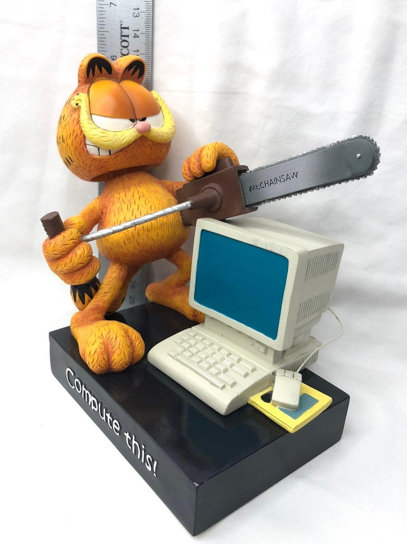 Vintage Garfield bobblehead w/ computer