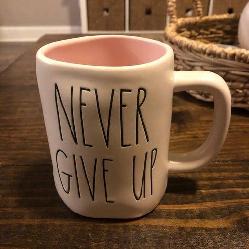 Rae Dunn Never Give Up Mug
