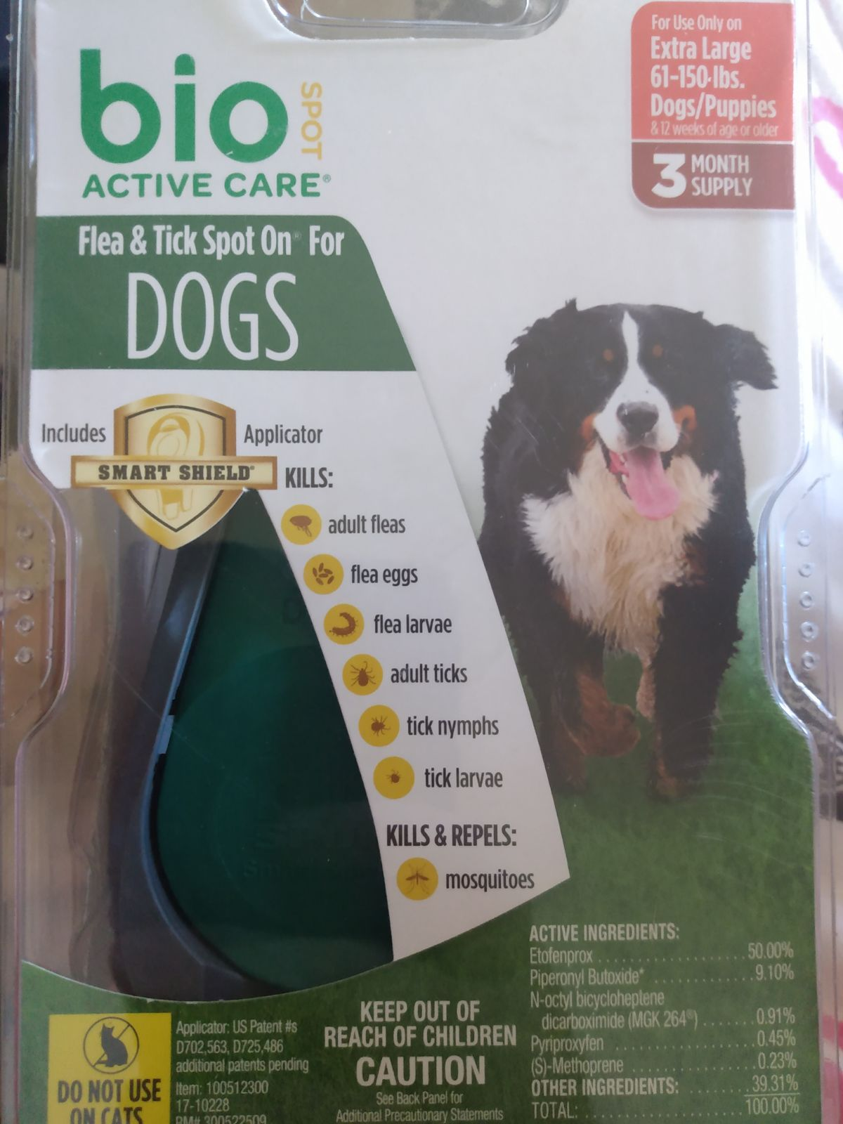 Bio Spot Flea Tick XL Dogs Puppies
