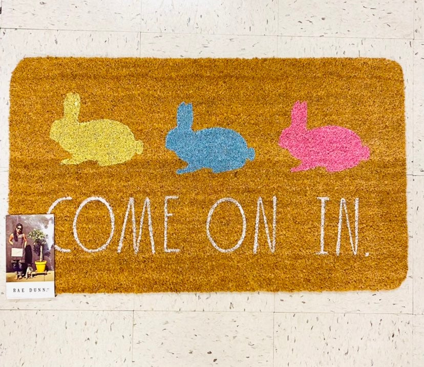 Rae Dunn COME ON IN Spring door mat