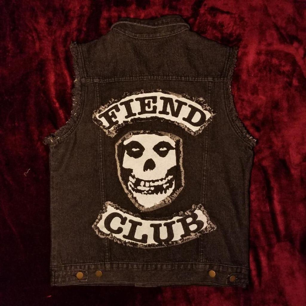 MISFITS Sleeveless Denim Vest