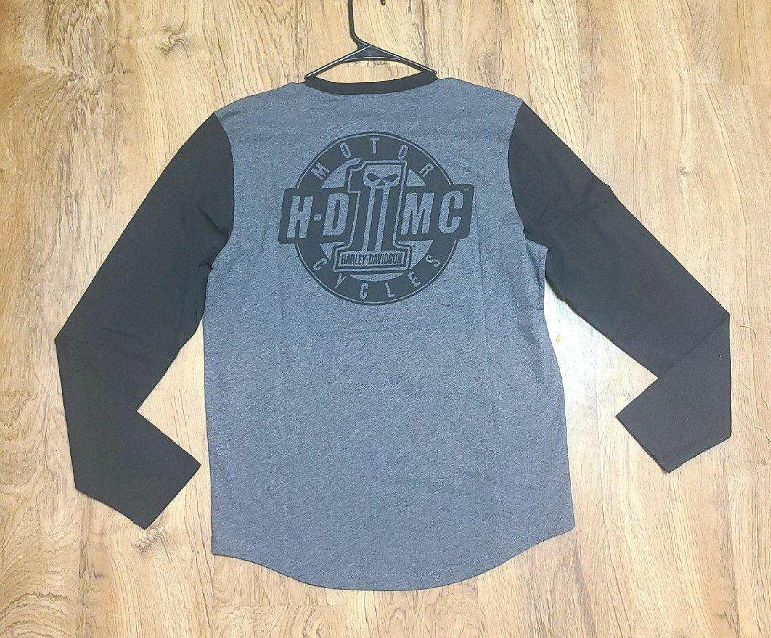 shirt NEW Harley Davison Slim-Fit long-s