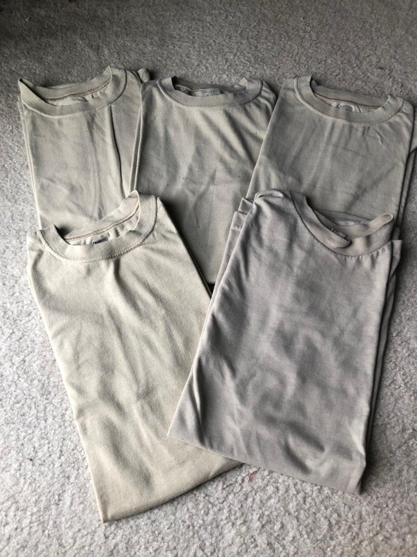 Bundle 5 Tan US Military T Shirts
