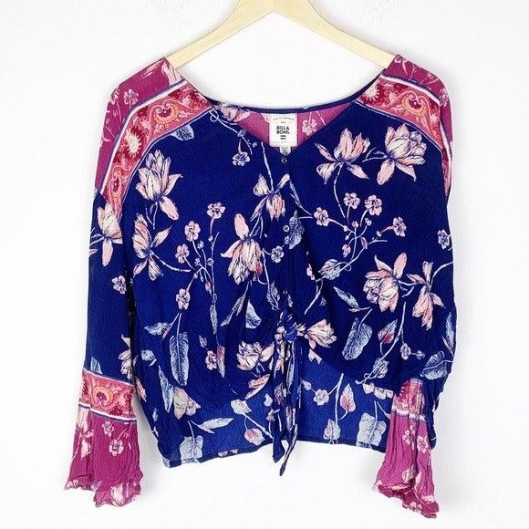 BILLABONG Floral Bell Sleeve Blouse