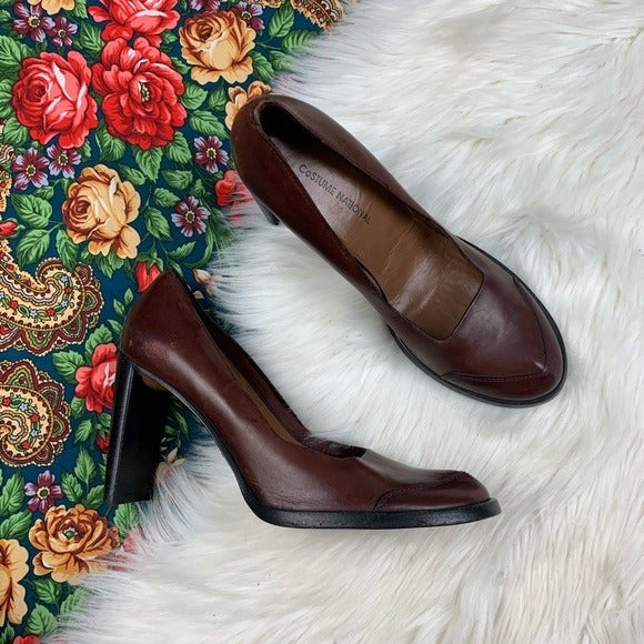 Costume National Distressed Leather Heel
