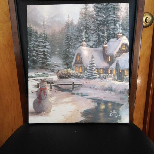 Thomas Kinkade Christmas Canvas