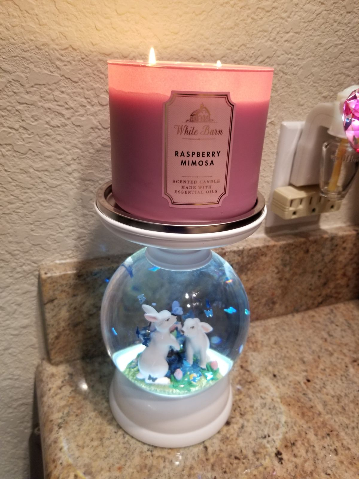 Bath and Body Works Easter Bunny Globe