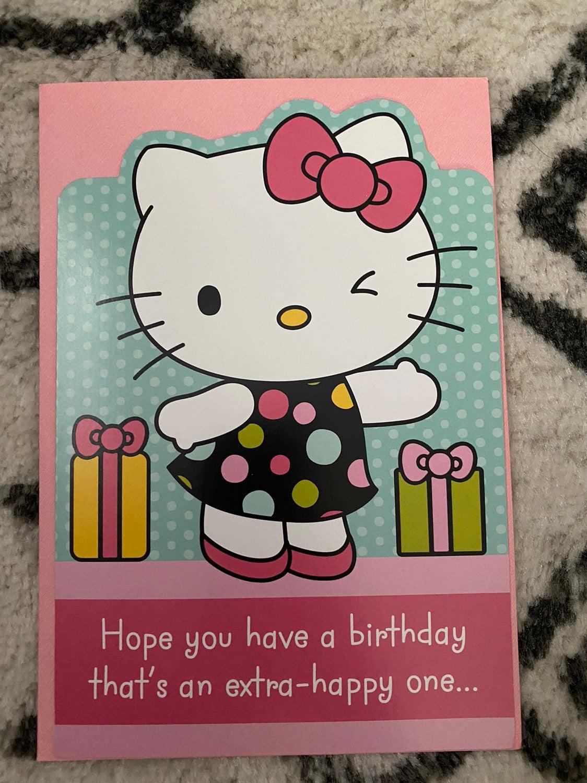 Hello Kitty Hallmark Birthday Card