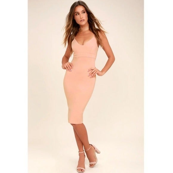 Lulus Don't Tell 'Em Blush Pink Bodycon