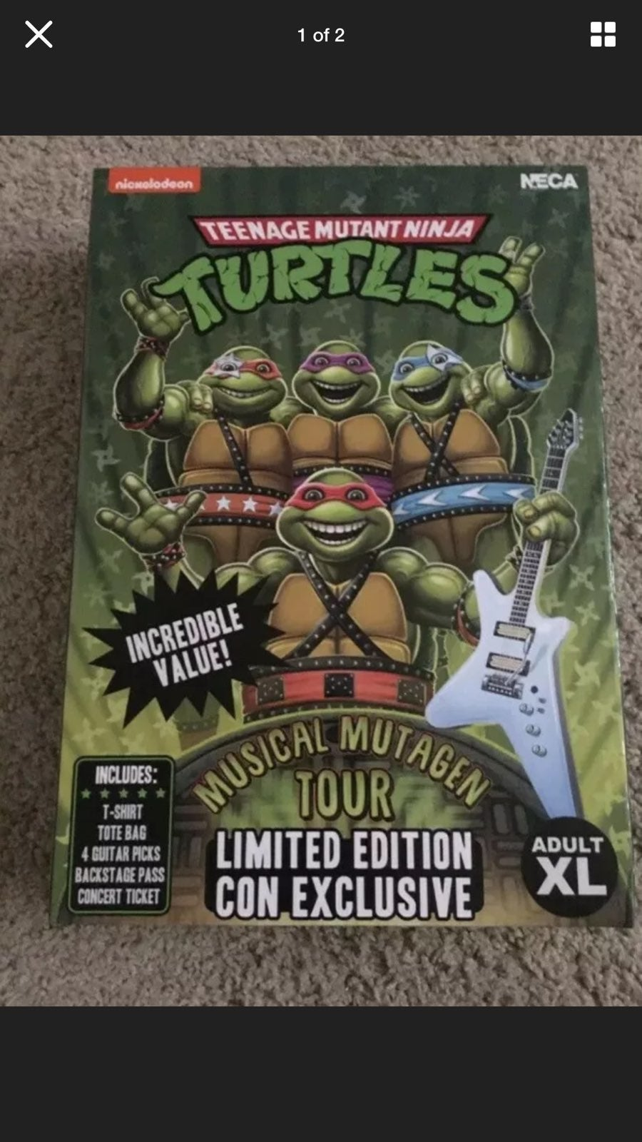 NECA TMNT musical mutagen tour XL