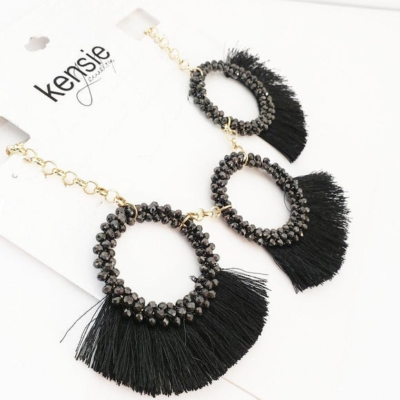 NWT Kensie Boho Fringe Necklace