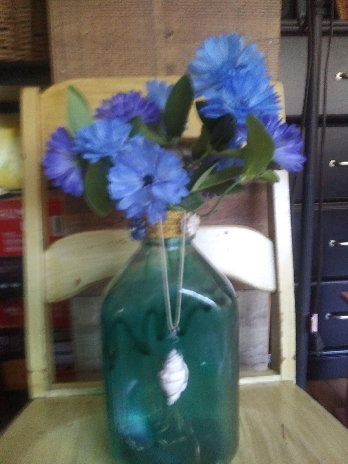 Vintage milk jug recycled