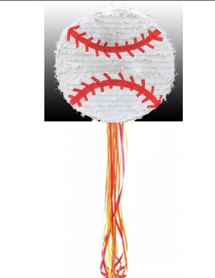 Baseball kids Piñata Pull String 13x13
