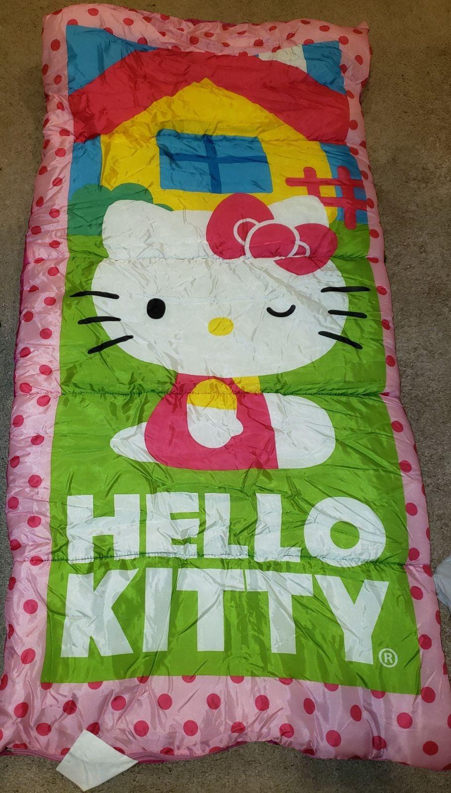 Used Pink girls hello kitty sleeping bag