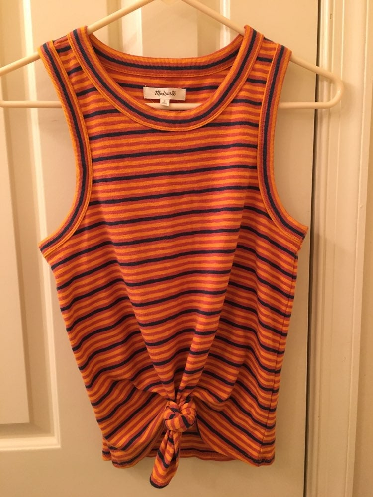 NWOT Madewell Stripe Knot Front Tank, S