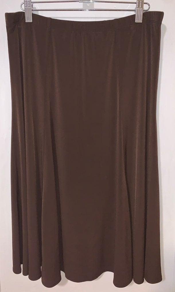 Susan Graver brown skirt Size Medium