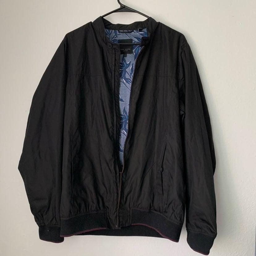 Ted Baker Men Black Zipper Jacket Sz S