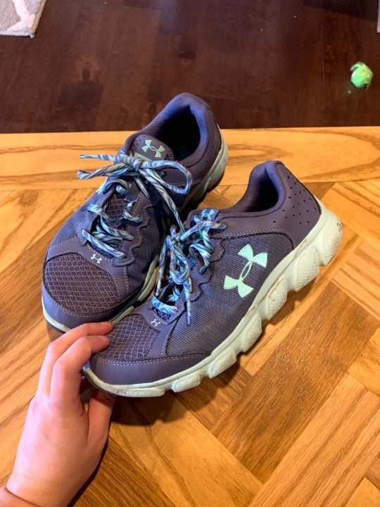 Under Armour periwinkle sneakers