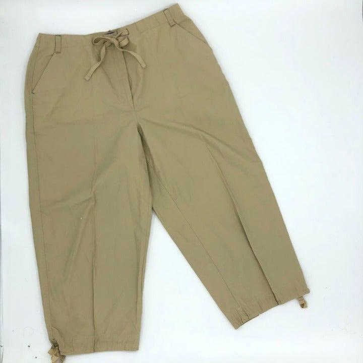 KAREN SCOTT Drawstring Capri Cargo Pants
