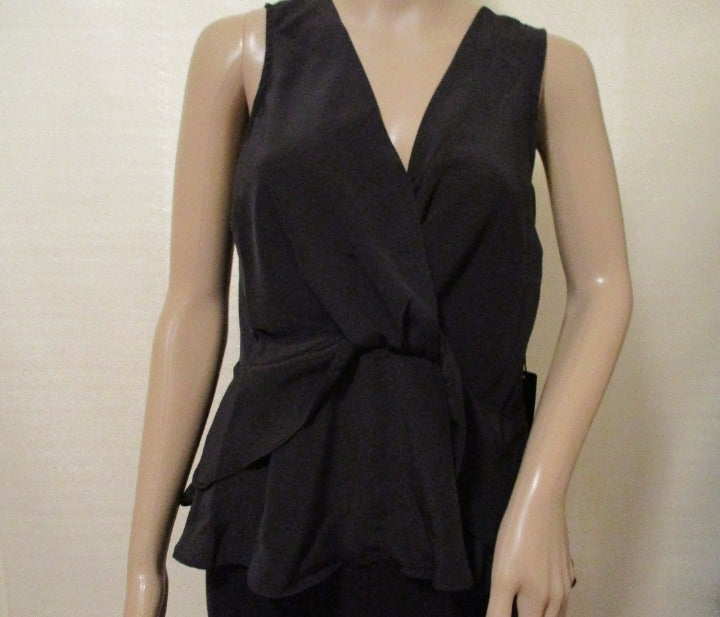Women's Sleeveless Ruffle Front Top