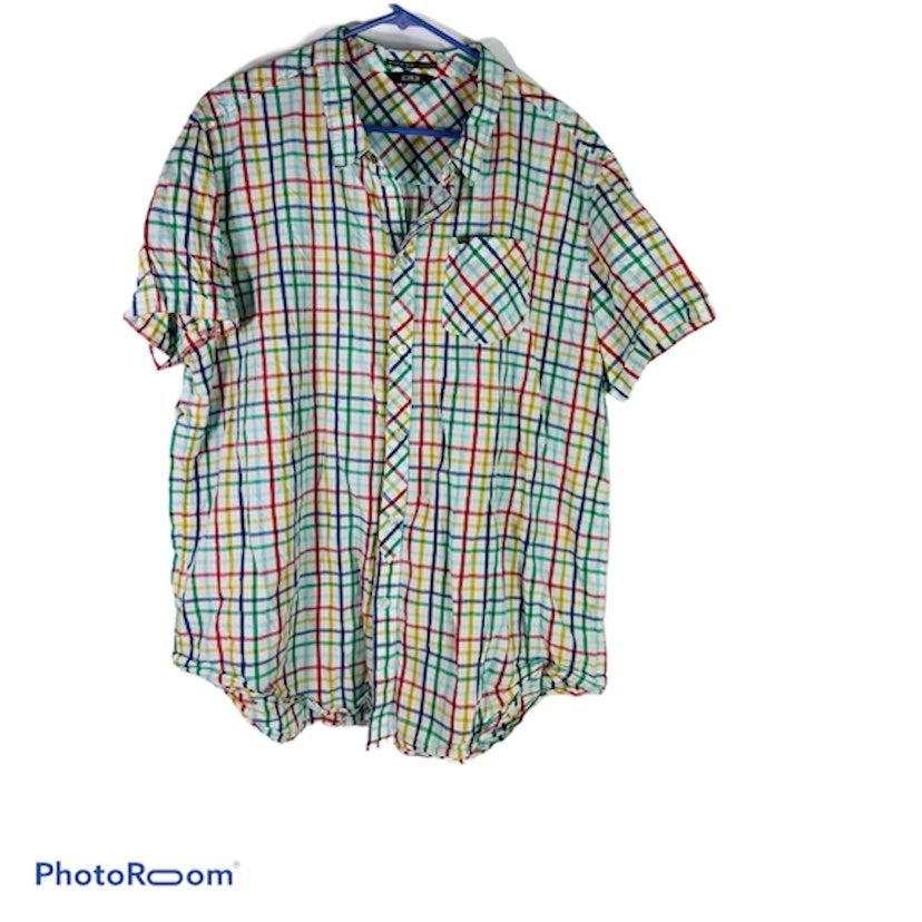 Krew Multi Color Button Down Shirt