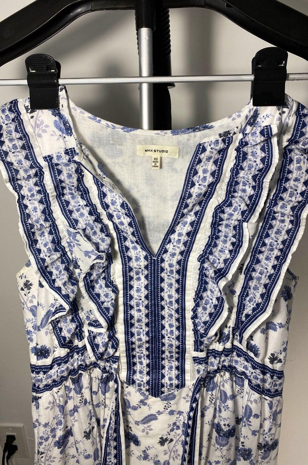 Max Studio Cinch Waist Tunic Dress XS