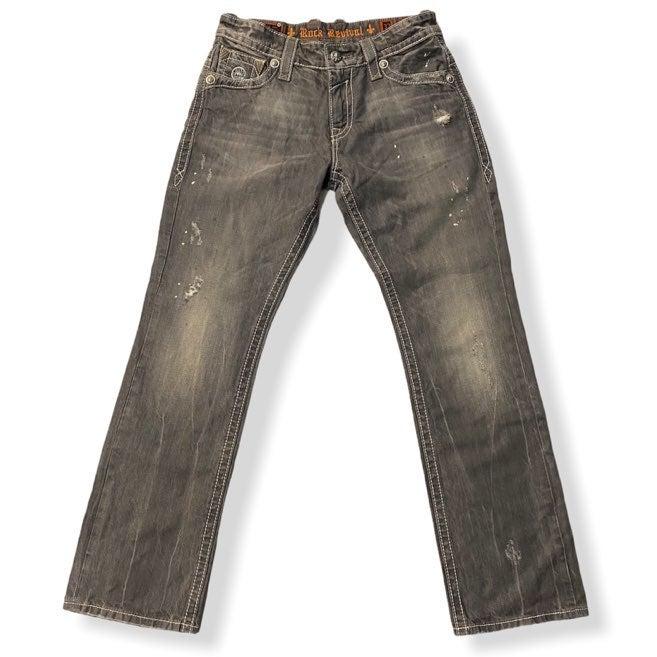 Rock Revival Straight Jeans Kurt Gray