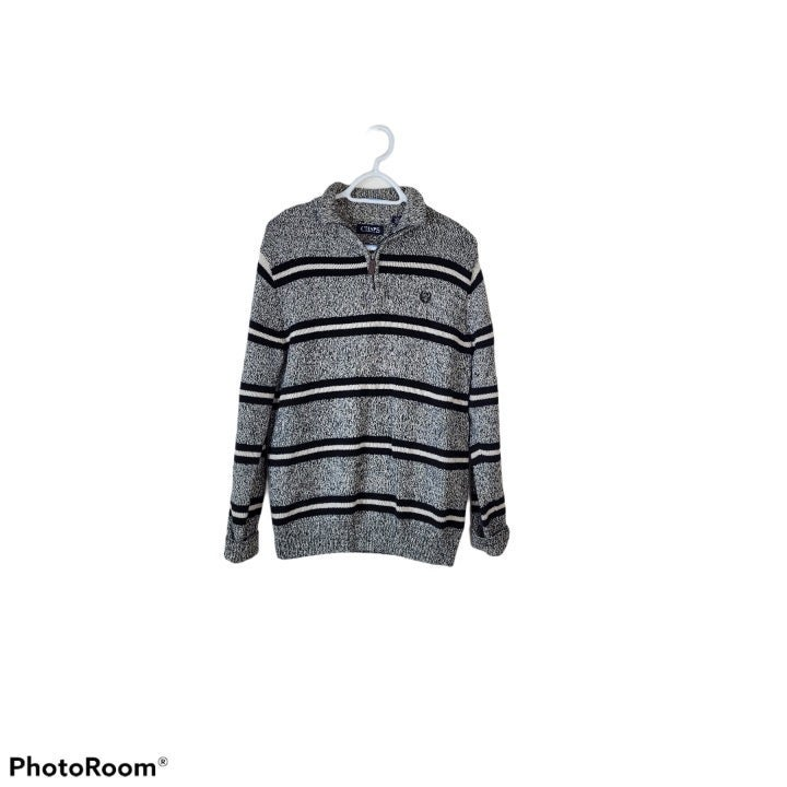Chaps Knit Two toned Striped Sweater