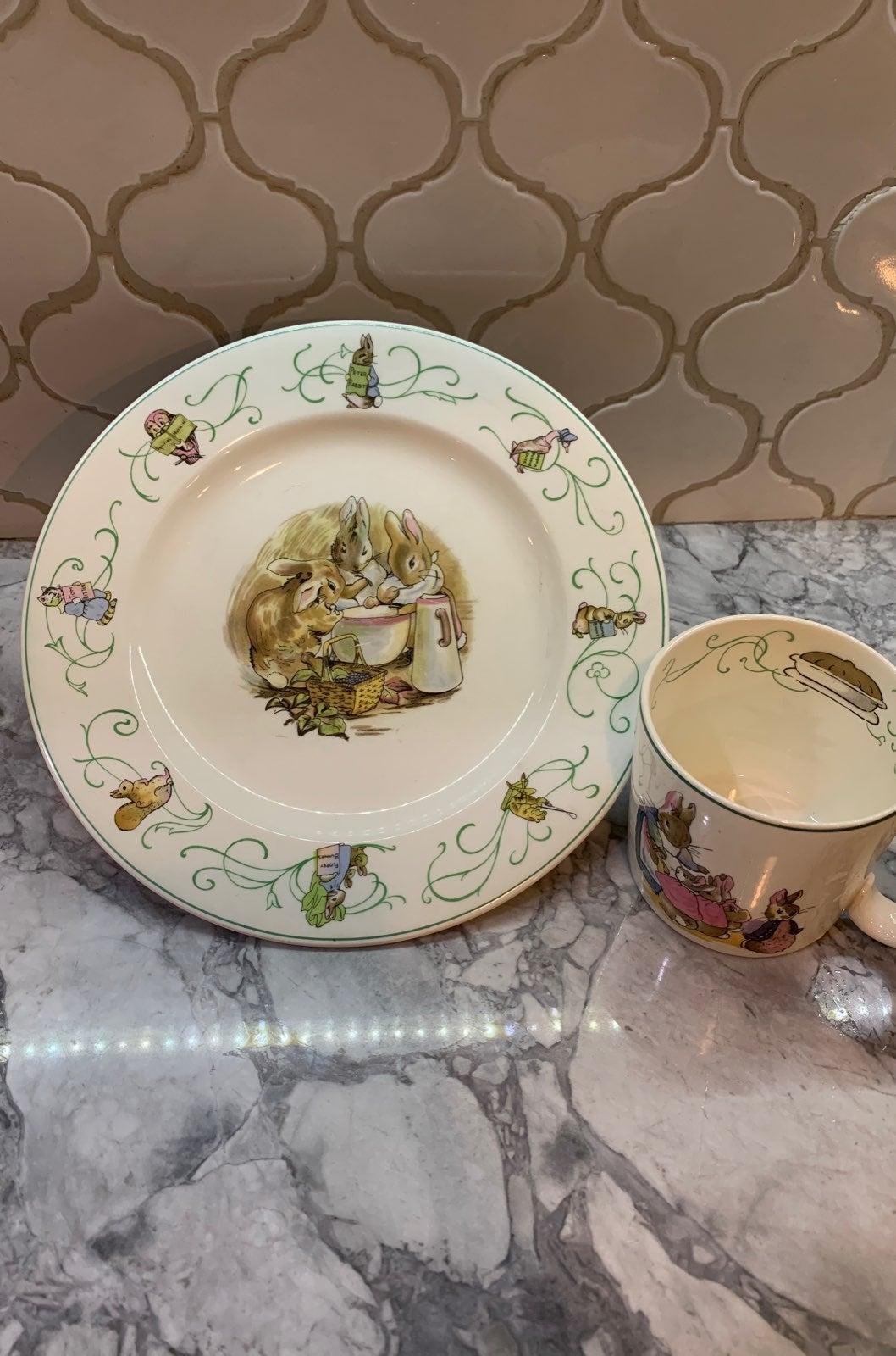 WEDGWOOD BARLASTON PETER RABBIT dish set