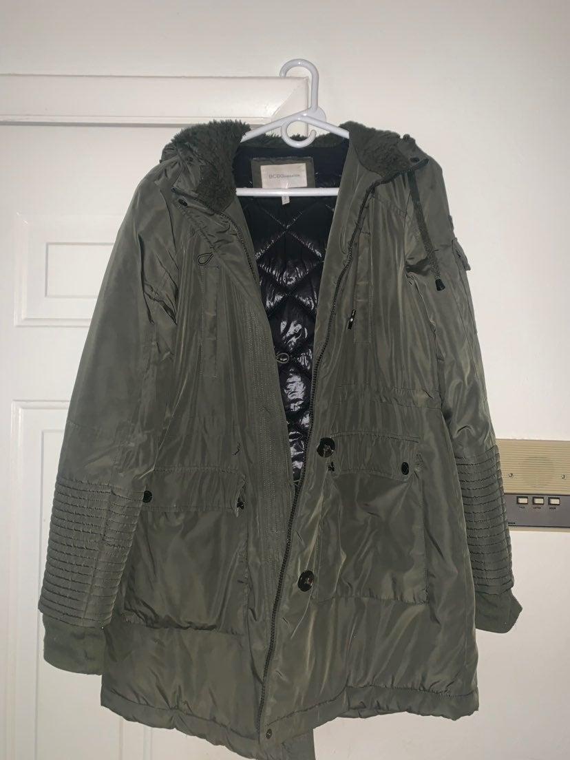 Bcbg Green Coat
