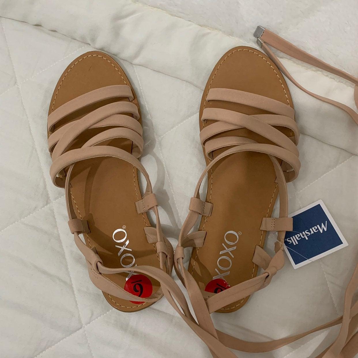 Strappy Wrap Sandal