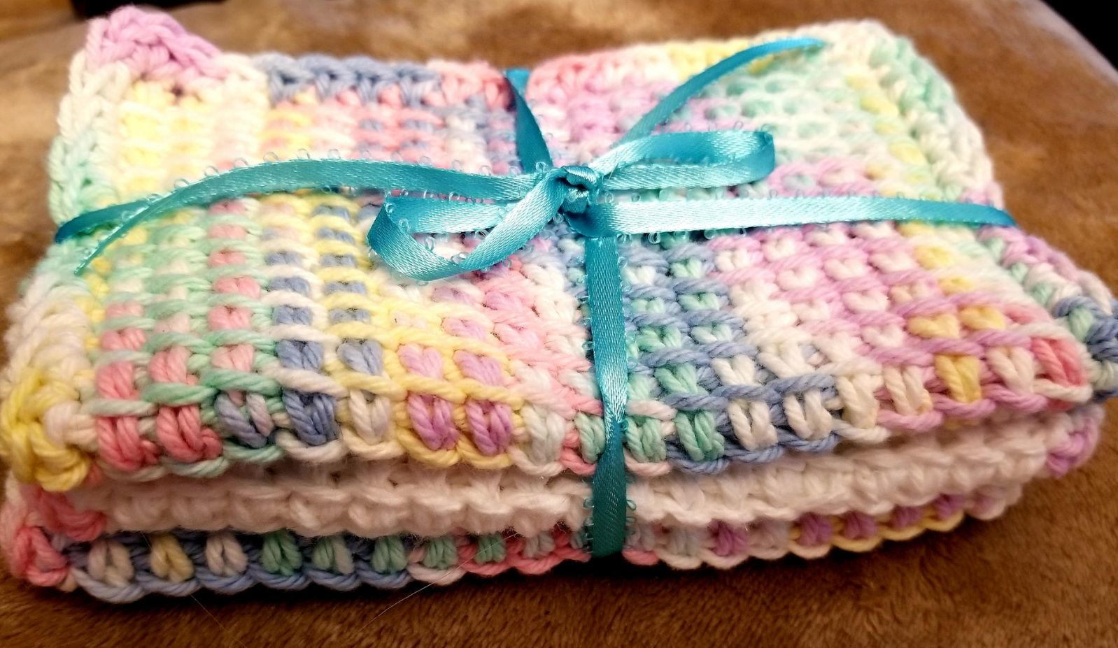 Set of 3 handcrafted spa cloths
