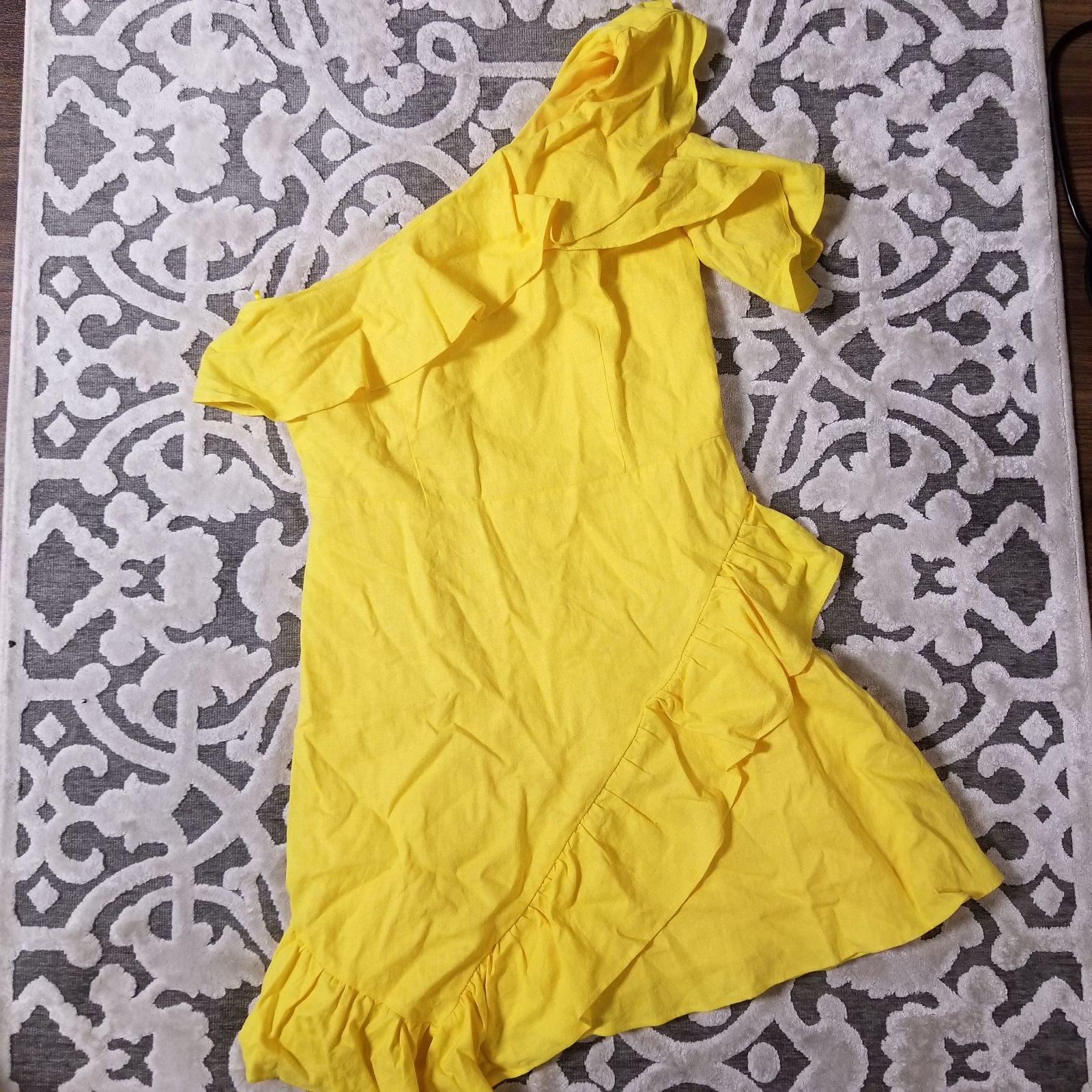 Yellow Flamenco Style Dress