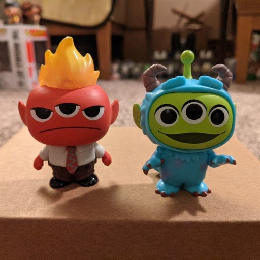 Funko Mystery Minis Anger Sulley Aliens