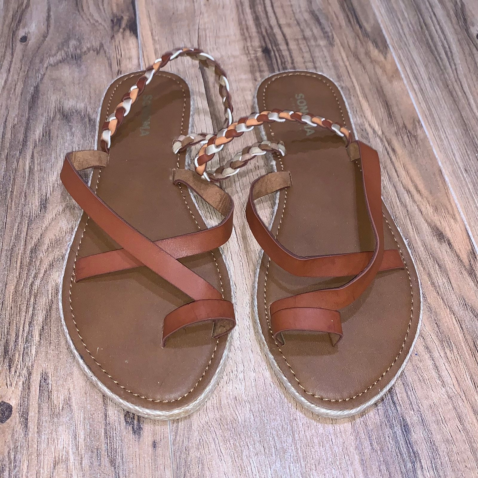 Sonoma brown woven Sandals