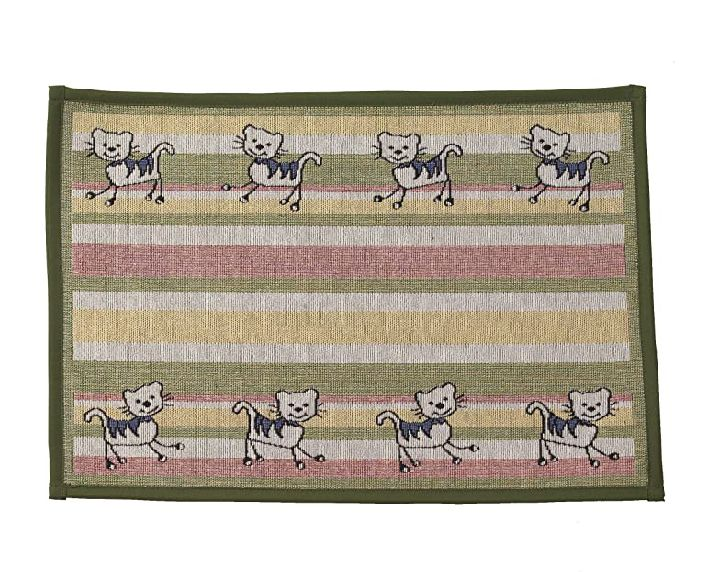 Silly Kitty tapestry mat