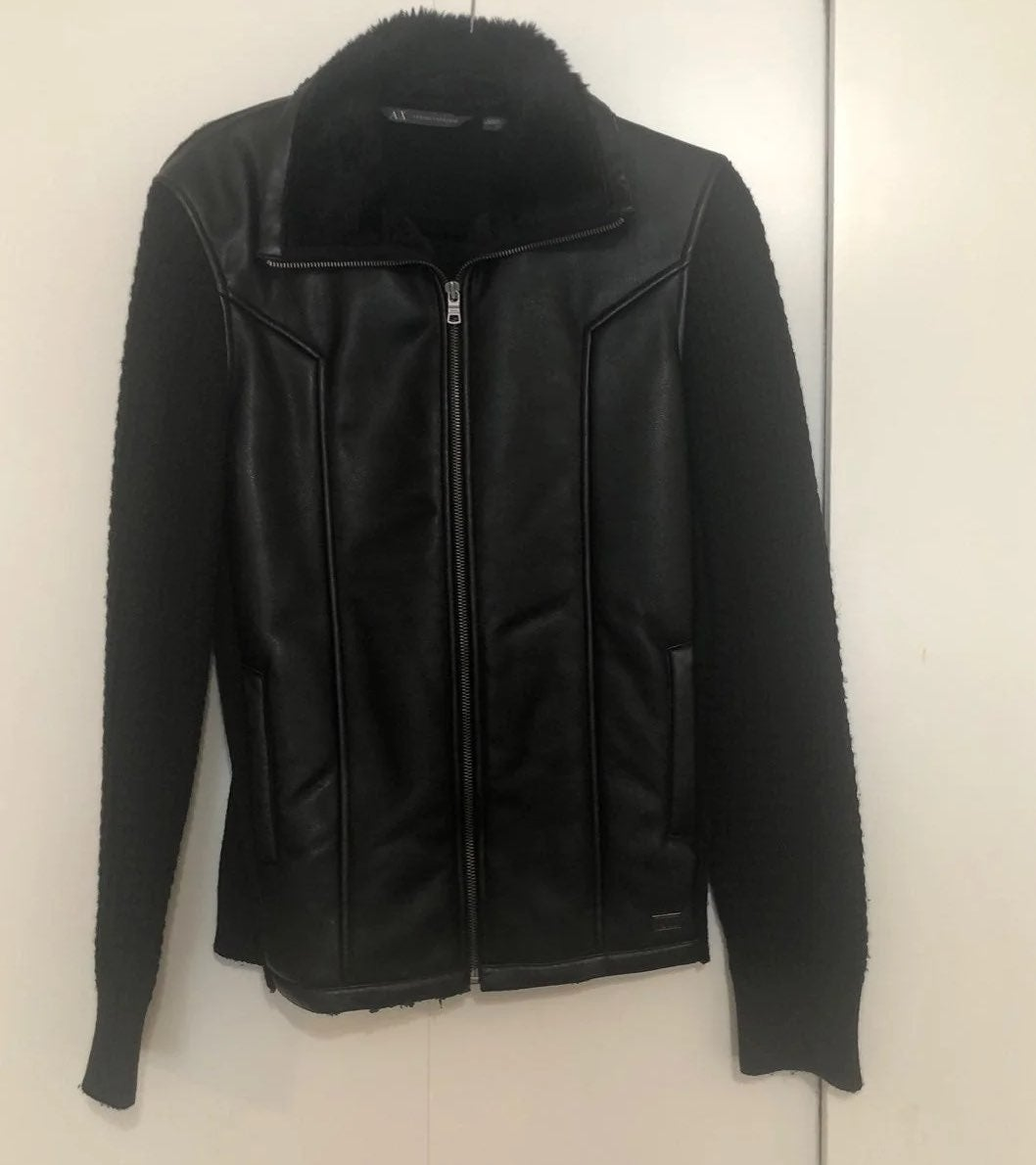 Leather Jacket A/X leather/fur/fabric