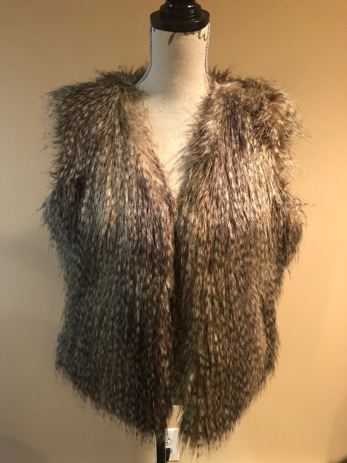 Express womens Faux Fur Vest