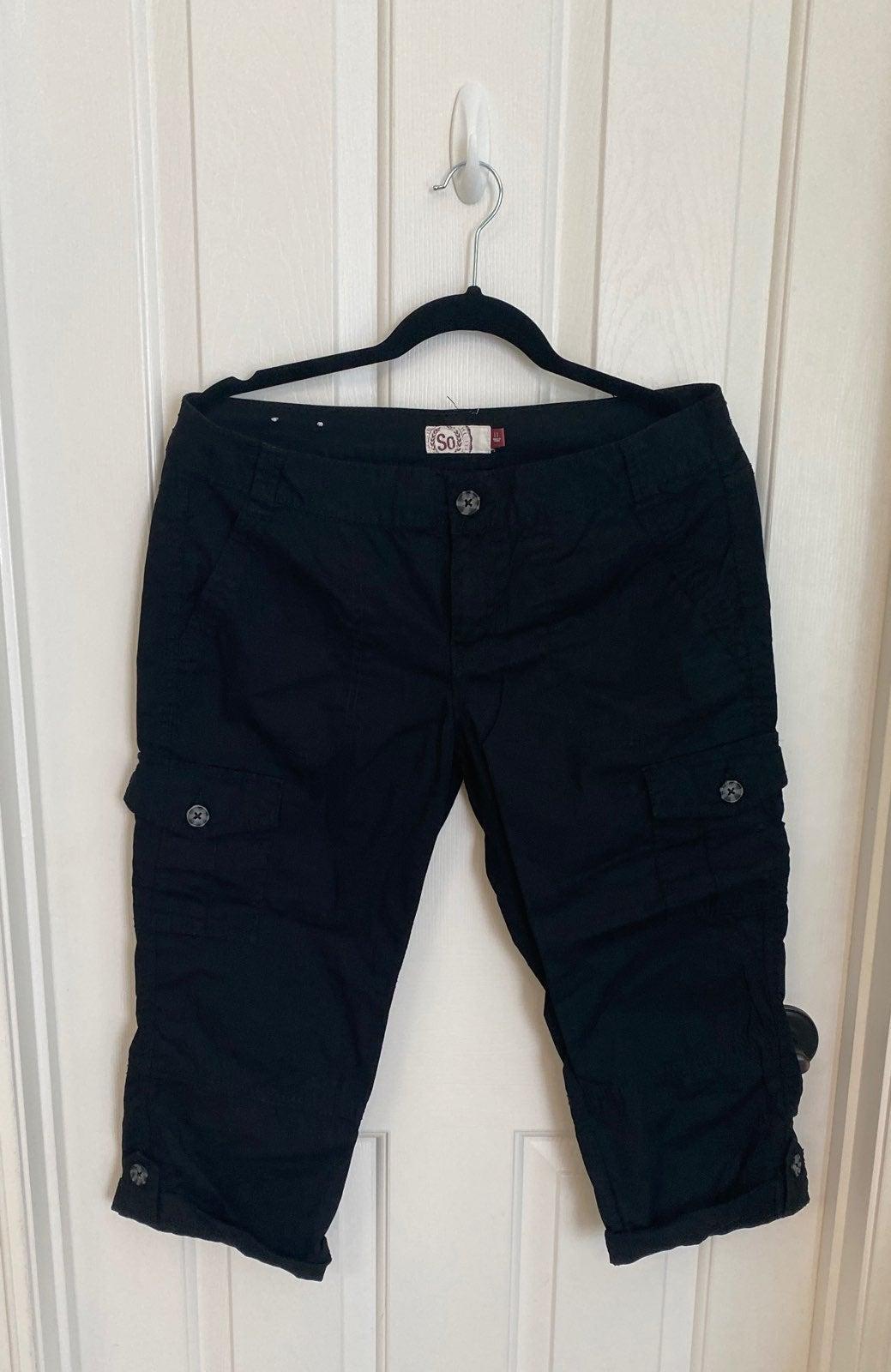 Womens black capri pants