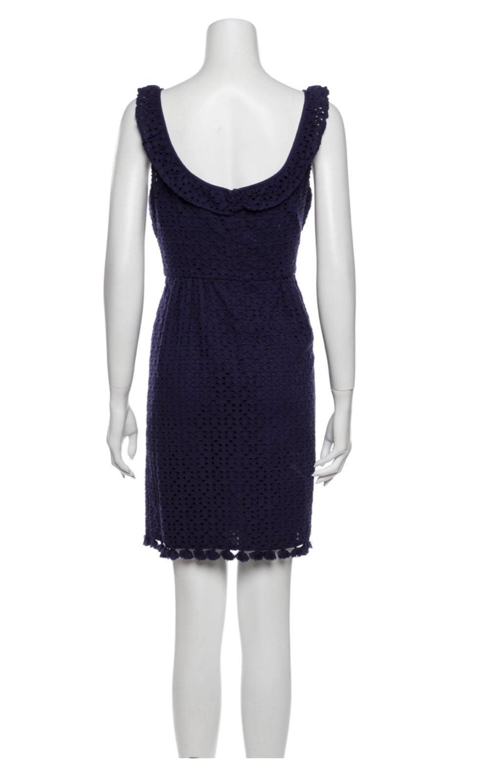 Calypso Lace Pattern Mini Dress Size M