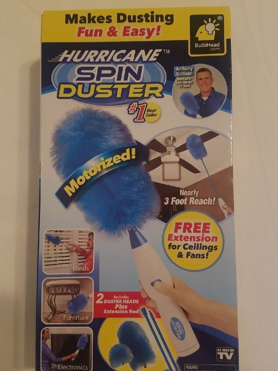 Motorized Hurricane Spin Duster
