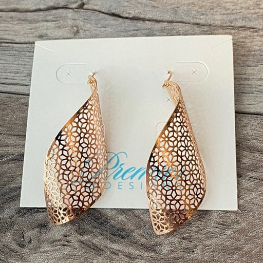 Premier Designs Breezy Rose Gold Earrings