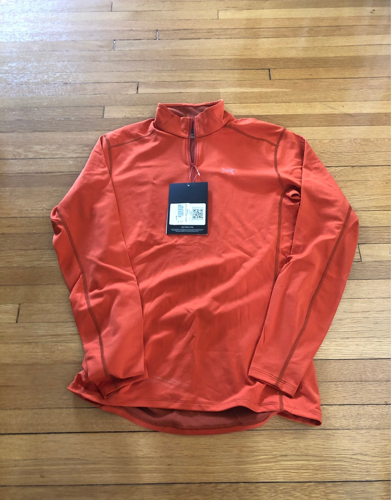 Men's Arc'teryx orange pullover jacket N