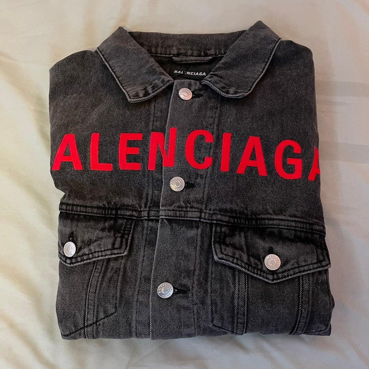 Balenciaga Logo-embroidered jean Jacket