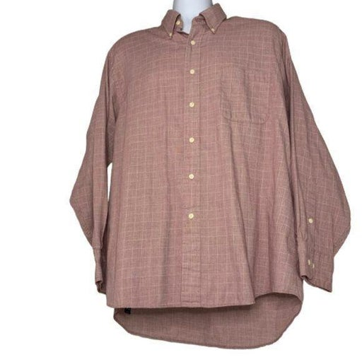 Izod English Poplin Button Down Shirt Size XL