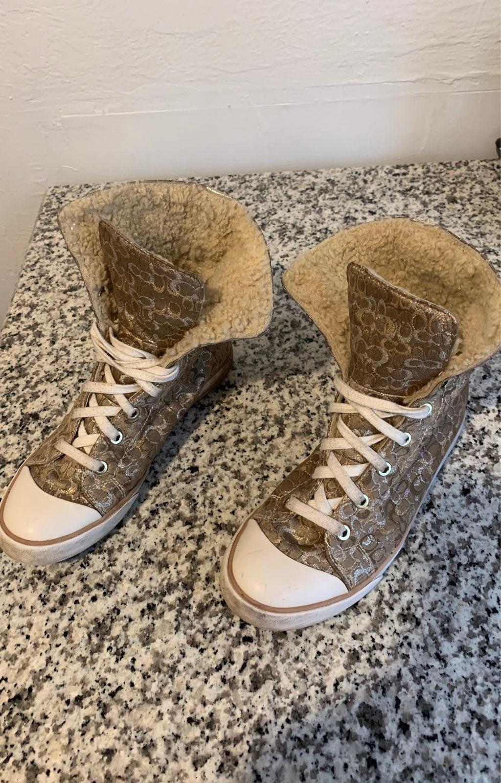 Coach High Top Fashion Sneakers