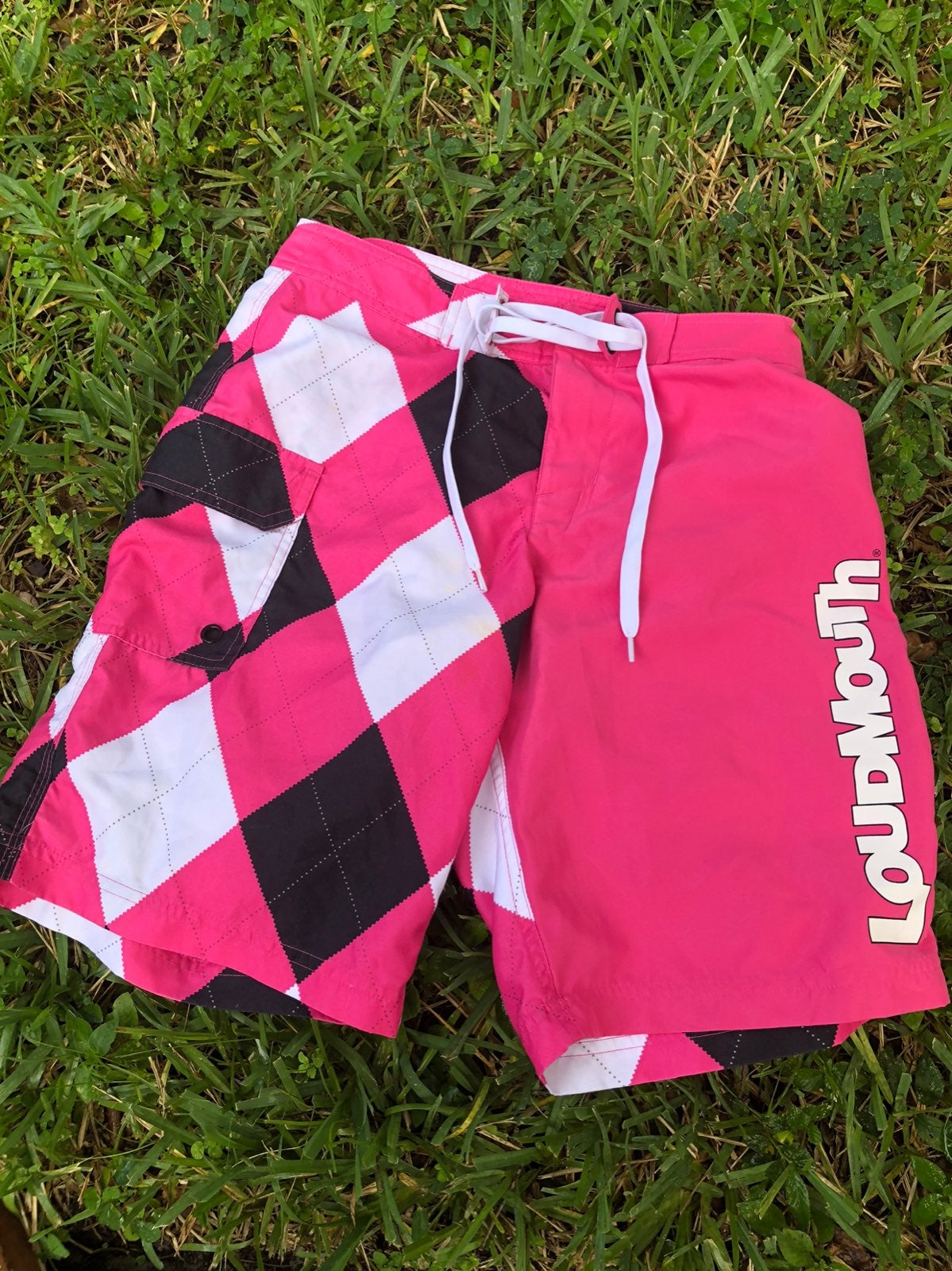 LOUDMOUTH :   Board shorts flamingo pink