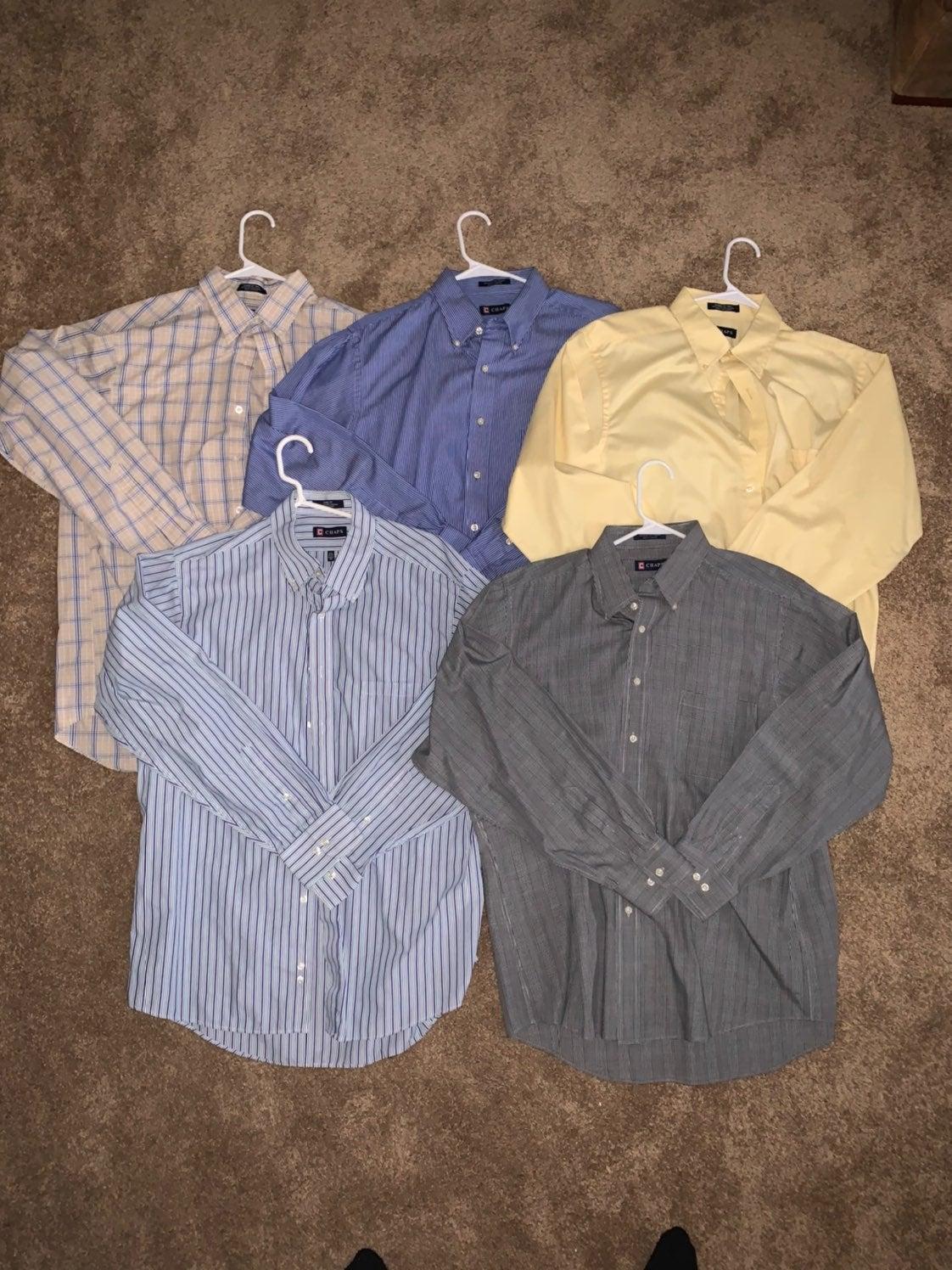 5 Chaps Dress Shirts 16-16.5 34/35