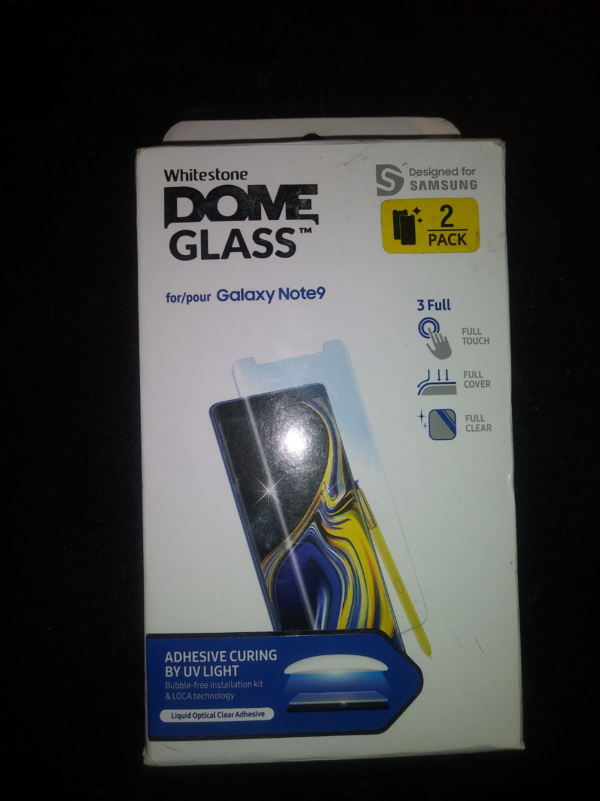 2x pack Note 9 dome glass Kit
