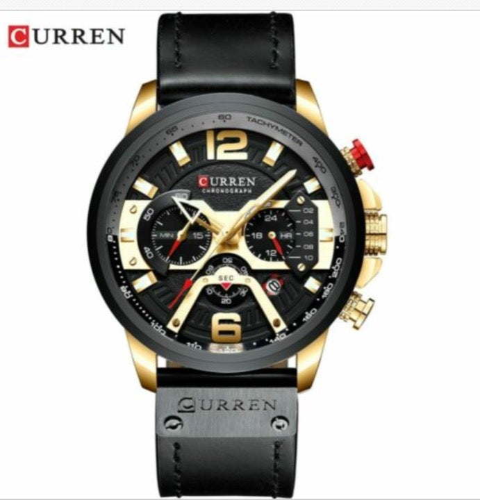 Watch Mens Leather Military Casual Analo